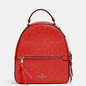 NWT COACH Jordyn Backpack In Signature Red Leather